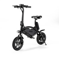mini bicicletas plegadas al por mayor-Jetboard Jbolt-Blk Bolt Bicicleta eléctrica plegable portátil Scooter-Ebike con batería recargable-Almacene fácilmente en el armario o en el maletero del automóvil / suv