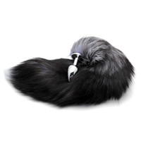 fox tailed plug venda por atacado-Atacado-Plug Aço Inoxidável Faux Fox Tail Stopper Gift Presente Dia dos Namorados Surpresa