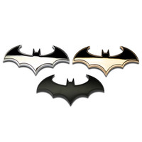 ingrosso logo del batman bat-3D Metal bat logo auto moto adesivo metallo batman distintivo emblema coda decalcomania