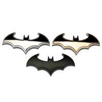 Wholesale batman motorcycle - 3D Metal bat logo car motorcycle sticker metal batman badge emblem tail decal