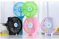 mini caja a mano al por mayor-Snowflake Handheld Fan Handy Usb Fan Manija plegable Mini Carga de ventiladores eléctricos Portátil Para la oficina en casa Regalos CAJA AL POR MENOR sin batería