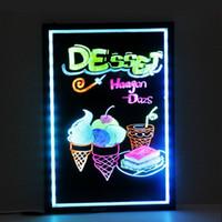 Wholesale neon shop signs resale online - LED study board Cooler door shop light LED DIY boar for bar store hotel sign lights promotion advertisement board LED neon lights