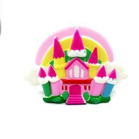 Wholesale Hand Bag China - Cute Castle Squishy Hand Squeezed Toy Stress Reliever Squishies Adult Decompression Toys Kid Gift Hot Sale 28rbd C