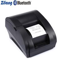 impresora de recibos android al por mayor-Puerto Zjiang 58mm Bluetooth Wireless térmica de tickets impresora de recibos máquina de impresión USB para Android Mini impresora