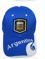 gorras de brasil al por mayor-2018 Moda Rusia Copa del mundo gorras de pelota para fanáticos suministros Brasil Alemania Francia Gorra deportiva Gorra de béisbol Sun Hat para hombre y mujer