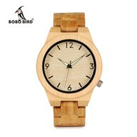 Wholesale Japanese Watches For Men - BOBO BIRD Casual Bamboo Wooden Watch japanese movement wristwatches bamboo wood band watches quartz watch for men