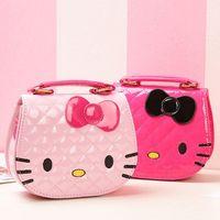 ee6206219f Character Kids One Shoulder Bag Inclined Shoulder Bag Hello Kitty Big  Bowknot Girls Cartoon Handbags Children Mini Waterproof Bags 5 Colors