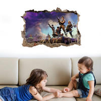Wholesale game room art online - Fortnite Wall stickers Art Pictures Game Wall Sticker patterns bedroom living room decoration wall stickers