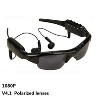 Wholesale sunglasses recorder for sale - Group buy SM07B P Bluetooth Video Camera Polarized lenses Glasses Support DV MP3 Music Phone Calls TF Cards Mobile Eyewear Recorder Sunglasses pc