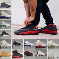 mens high top dış ayakkabılar toptan satış-2018 Yeni Air13 XIII Buğday Basketbol Ayakkabı Erkekler Için, Yüksek Kalite Mens 13 s Sepeti Topu Spor Açık Sneakers Eğitmenler ABD 8-13 Boyutu 41-47