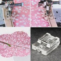 Wholesale household sewing machine parts - 1 PC Household Sewing Machine Parts Presser Foot Invisible Zipper Foot Plastic for singer brother white janome juk 601 (5011-21)