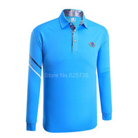 roupa rápida livre do transporte venda por atacado-2017 Novas camisas de Golfe esporte tops roupas de golfe Camisa de manga comprida roupas masculinas de verão rápido seco Frete grátis