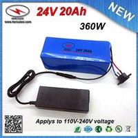 chargeurs classiques achat en gros de-Batterie de vélo électrique au lithium de 350W 24V 20Ah avec batterie de vélo électrique classique construite en 3.7V 2000mah 18650 cellules 15A BMS + 2A chargeur