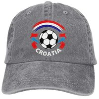 Wholesale casquettes snapback for sale - Group buy Baseball Jeans Cap Croatian Flag and Football Men Women Snapback Casquettes Adjustable Dad Hat