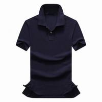 Wholesale black yellow striped shirt - top Quality 2018 100% cotton USA Brand Small Horse POLOS men's fashion Summer short-sleeved POLO shirt casual men Designer RL POLOS TOPS
