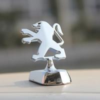 ingrosso emblema degli autoadesivi peugeot-Adesivo per cofano anteriore auto in metallo con decalcomanie auto in metallo per Peugeot