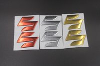 "Wholesale 3d Motorcycle Tank - 3 Colors Motorcycle Emblem Badge Decal 3D Tank Wheel Logo ""S"" Sticker For Suzuki GSXR 600 750 1000 SV GSF Bandit DL 1000 VL SFV"