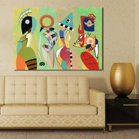 Wholesale Paintings Kandinsky - Las Musas Kandinsky By That Careless Fairy Oil Painting Moder Home Decor Picture Wall Pictures For Living Room No Frame