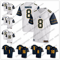 Wholesale Aaron Rodgers Jerseys - NCAA California Golden Bears #8 Aaron Rodgers 16 Jared Goff 10 Marshawn Lynch 1 DeSean Jackson Cal navy blue white College Football Jerseys