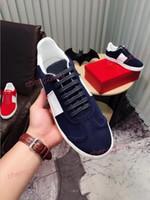 zapatos de cuero de los hombres tejidos al por mayor-2018 hombres remaches de la marca zapatos de los planos de alta calidad de tejer remiendo de moda zapatos casuales estilo tachonado marca estilo 38-44