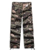 Wholesale large pocket cargo pants resale online – Army Tactical Pants Multi pocket Washing Cotton Army Green Camouflage Cargo Pants Men Plus Large Size