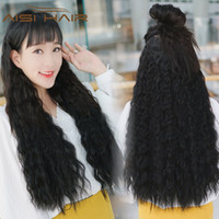 """Wholesale synthetic water wave - Synthetic Hair 5 Clips One Piece Hair Extension Water Wave Long 22"""" for Women Black Brown Heat Resistant"""