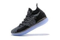 nuevas botas kd al por mayor-Nike nuevos zapatos de diseñador 2018 Zoom KD 11 Hombres Zapatos de baloncesto KDs XI Kevin Durant Deportes al aire libre botas de combate Fmvp tamaño us 7-12