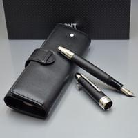 en iyi noel adamı toptan satış-En lüks Meistersteks 149 kalın varil klasik MB Dolma kalem Monte marka yazma kalem seti kalemler ile kalem çantası En iyi Noel hediyesi için adam