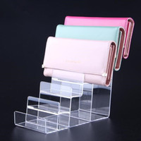 Wholesale acrylic wallet stand resale online - Wallet display stand Acrylic purse display rack watch glasses cigarette phone Cosmetic Nail polish holder showing stand