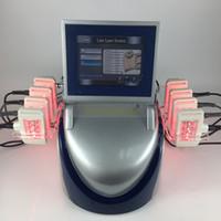 láser diodo lipo que adelgaza la máquina al por mayor-10 almohadillas láser 160mw longitud de onda dual Smart i lipo láser máquina láser de pérdida de peso lipo lipólisis máquina de adelgazamiento