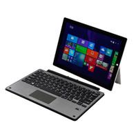 клавиатура поверхность bluetooth оптовых-Клавиатура для Microsoft Surface Pro 5 / Pro 4 / Pro 3 Тонкий алюминиевый беспроводной Bluetooth клавиатура с трекпадом