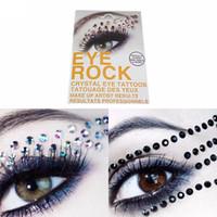Wholesale 3d glitter stickers resale online - New D Flash Eye Temporary Tattoo Stickers Rhinestone Tattoo Supplies Glitter Eyeshadow Adesivos Beauty Maquiagem Styles