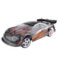 rc araba motorları toptan satış-2.4 GHz 1/10 Ölçekli 4WD Elektrik Powered Sürüklenen Araba Frekansı RC Modeli 94103 100-240 V RC 540 motor Aşınmaya dayanıklı lastikler araba