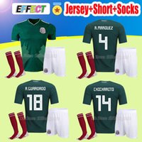 Wholesale National Uniforms - 2018 Mexico national Adult Kits Soccer Jerseys Uniform Men Full Set World Cup G.Dos Santos CHICHARITO O.PERALTA H.LOZANO football shirts