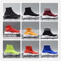Wholesale toddler girls lace socks - Infant Children Kids running shoes Speed sock Sneakers Tess Mesh outdoor Sports shoes toddler boy girl Trainer stretch-knit Zapatillas