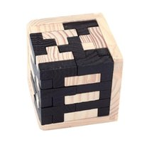 Wholesale brain baby for sale - Group buy 3D Puzzle Luban Interlocking Wooden Toys for Children IQ Brain Teaser Burr IQ Educational Kids Baby Toys Puzzles Brinquedos