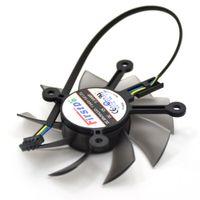 corregir la tarjeta de video al por mayor-Nuevo ventilador de enfriamiento FirstD FD8015U12S 75MM 12V 0.5AMP 4Pin para ASUS GTX 650 GT740 650Ti EAH6770 7750 Ventilador para enfriador de tarjeta gráfica