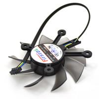tarjeta gráfica ventilador de 12v al por mayor-Nuevo ventilador de enfriamiento FirstD FD8015U12S 75MM 12V 0.5AMP 4Pin para ASUS GTX 650 GT740 650Ti EAH6770 7750 Ventilador para enfriador de tarjeta gráfica