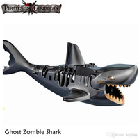 Wholesale toys pirate caribbean - WholeSale 5pcs Ghost Zombie Shark Movie Caribbean Pirates SILENT MARY Minifig Assemble Building Blocks Kids Learning Toys Gifts