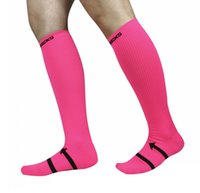 носки велосипедные для мужчин оптовых-Пользовательские логотип сжатия носки для мужчин женщин велосипед езда марафон спортивные носки футбол носки 4 цвета бесплатно DHL G455Q