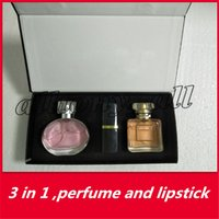 Wholesale two lipsticks online - New High Quality Famous Luxury Brand Makeup Set Kollection two Lipstick perfume Cosmetic in Kit