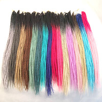 Wholesale ombre senegalese twist hair resale online - Synthetic Braiding Hair Ombre Senegalese Twist inch Two Tone Crochet Braiding Synthetic Hair Extensions Customized Color