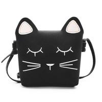 Wholesale gifts for kids girls for sale - child handbag cat handbag cute bag Cute Cat Girls handbag Children Kid shoulder bag black bag kids bags gift for girl