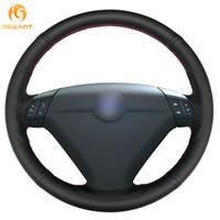 radios volvo al por mayor-Cubierta del volante del coche del cuero genuino MEWANT MEWANT negro para Volvo S80 2004 2005 XC70 2004-2007
