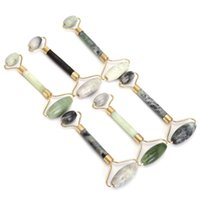 Wholesale healthy nature - Jade Roller Massager Green Facial Nature Healthy Face Beauty Body Head Neck Foot Massage Tools Random Color