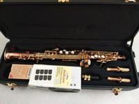 saxofones de soprano venda por atacado-Em linha reta Yanagisawa Soprano Japão S901 saxofone Instrumento B Música plana de bronze de fósforo Spli Soprano sax com o caso