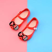 d9097e04f0092 Mini Melissa 2018 Mickey bow Chaussures De Gelée Garçons Filles Sandales  Doux Confort Toddler Bébé Fille Sandales Sandales De Plage Pour Enfants