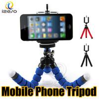 evrensel mobil monopod toptan satış-Kamera Tripod Tutucu Cep Telefonu için Evrensel Araba Montaj Standı Braketi Esnek Ahtapot Tripodlar Taşınabilir Özçekim Monopod