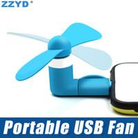 mikro aygıtı toptan satış-ZZYD Taşınabilir Mini Mikro USB Fan Gadget Soğutucu Tipi C Fan iP 7 8 Samsung S8 Note8