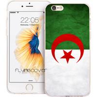 elma 4'lü telefon kutuları toptan satış-Coque Afrika Cezayir Bayrağı Telefon Kapak iphone X 7 8 Artı 5 S 5 SE 6 6 S Artı 5C 4S 4 iPod Touch 6 5 Şeffaf Yumuşak TPU Silikon Kılıflar.